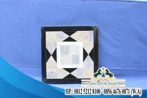 Model Meja Kotak Motif Marmer