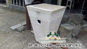 Contoh Pedestal Set Marmer, Model Pedestal Minimalis Batu Marmer