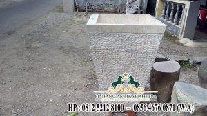 Model Pedestal Minimalis Batu Alam