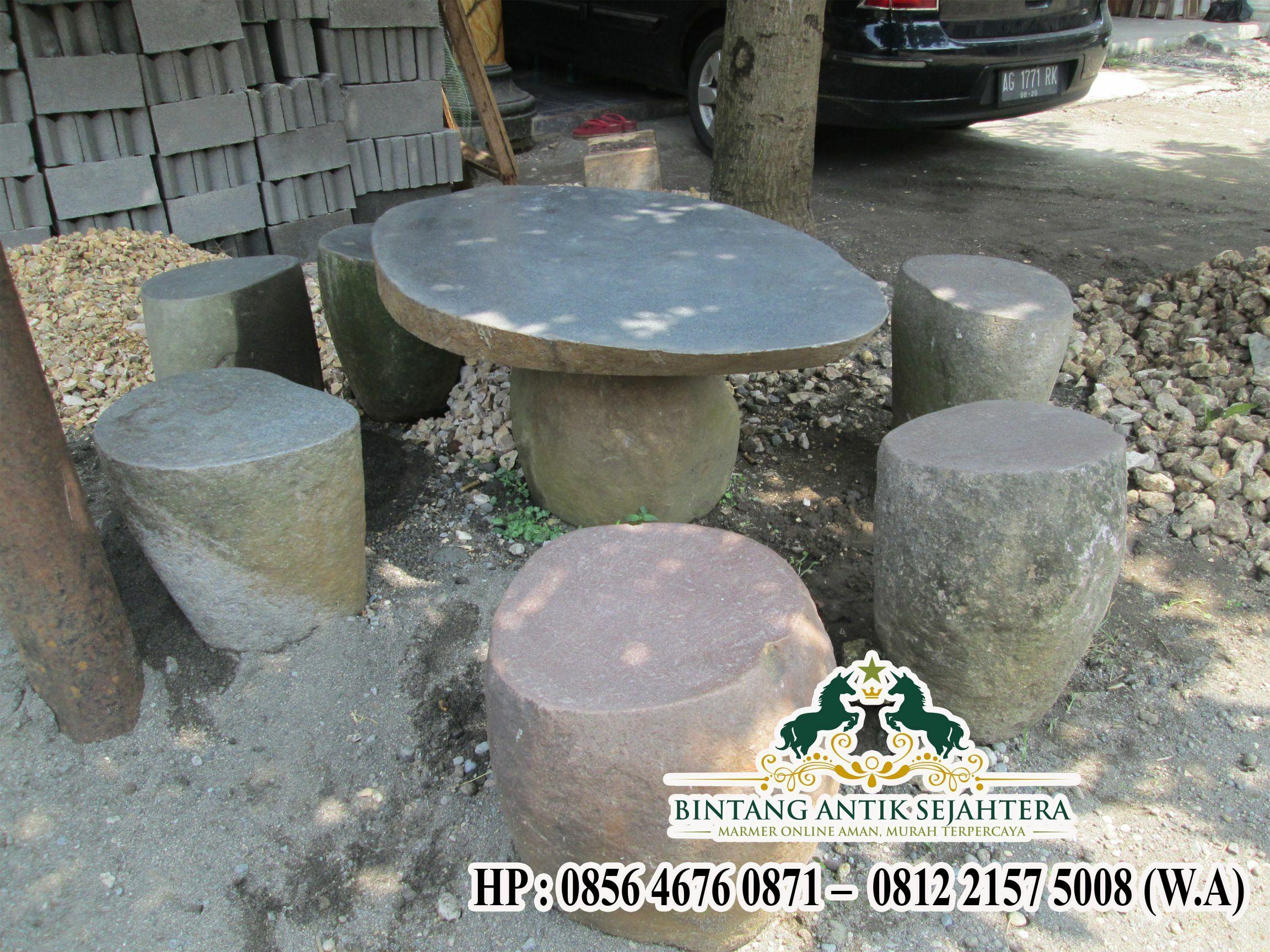 Meja Batu Alam Berkualitas | Jual Meja Batu Kali