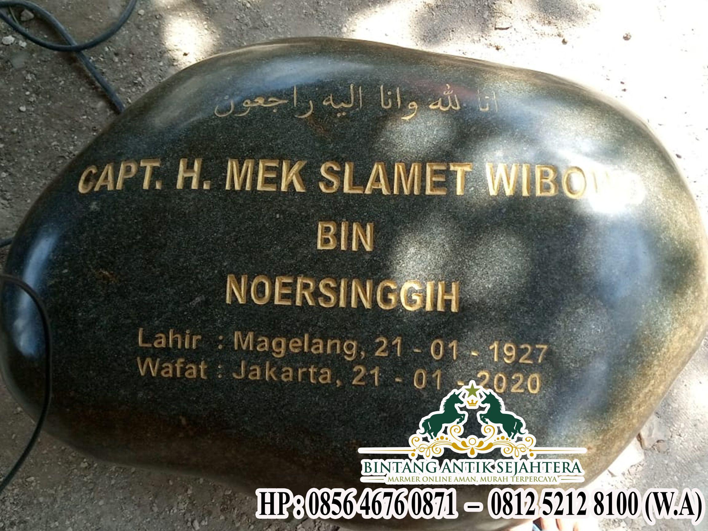 Nisan Batu Alam | Model Nisan Batu Kali Asli Tulungagung