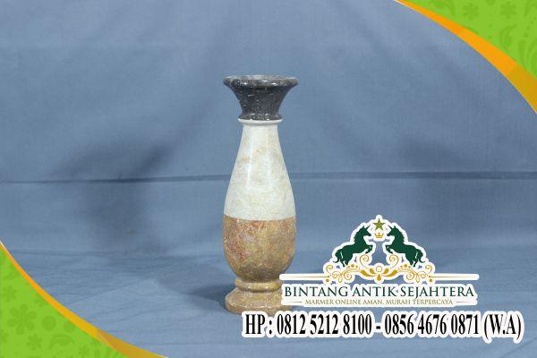Aneka Kerajinan Batu Alam | Contoh Vas Bunga Marmer