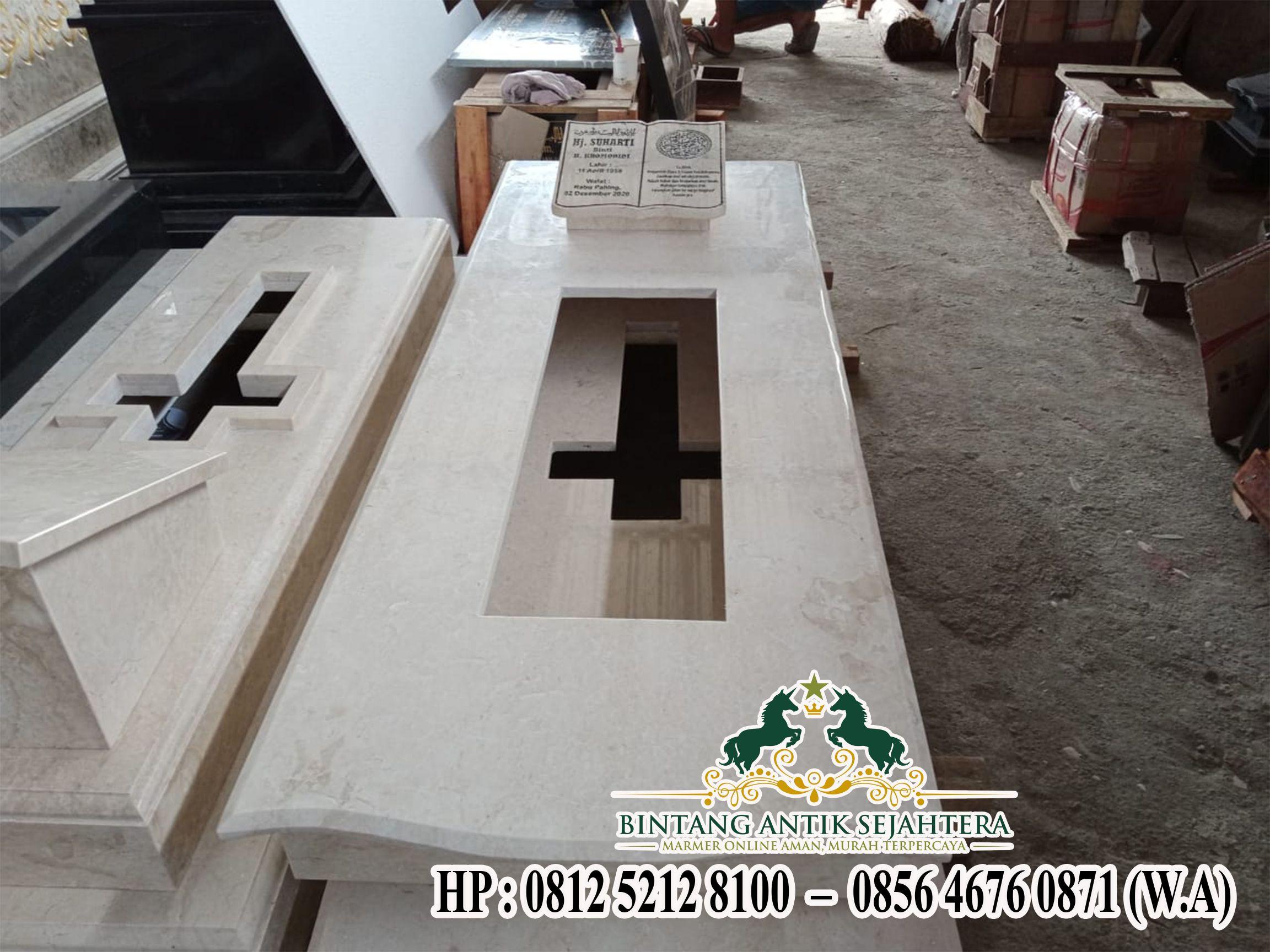 Makam Marmer, Model Trap 1 Marmer Minimalis, Jual Kijing Makam Marmer Murah